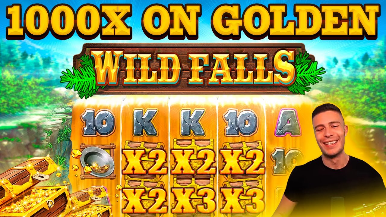 INSANE 1000X GOLDEN CHEST BONUS ON WILD FALLS | HUGE WIN ON PLAY N GO ONLINE SLOT MACHINE