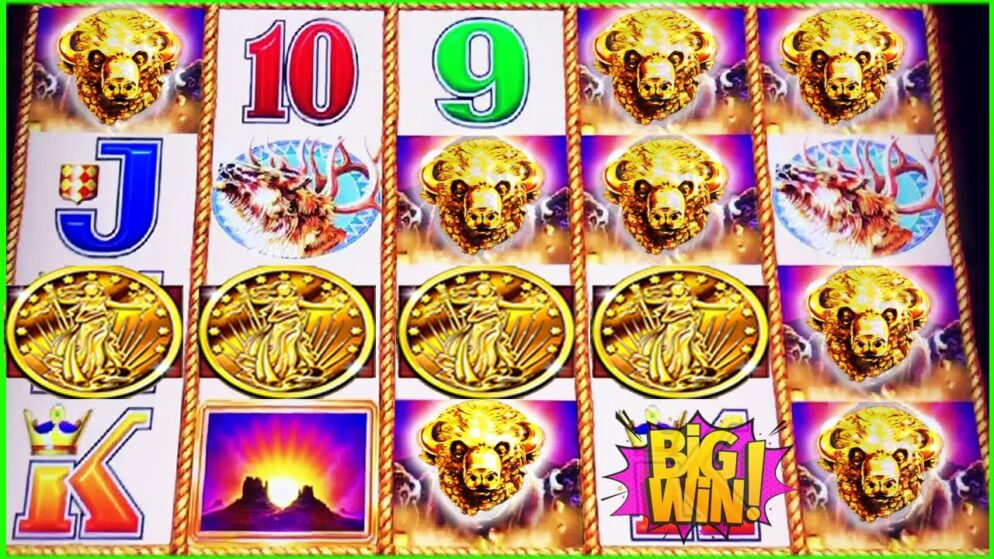 4 COIN TRIGGER! LANDED BIG WINS BUFFALO GOLD SLOT MACHINE COIN SHOW