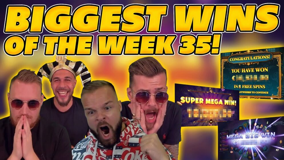 BIGGEST WINS OF THE WEEK 35! INSANE BIG WINS on Online Slots! TWITCH HIGHLIGHTS!