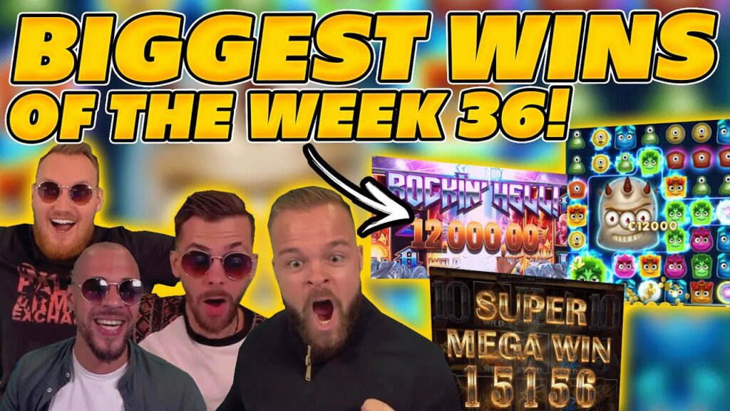 BIGGEST WINS OF THE WEEK 36! INSANE BIG WINS on Online Slots! TWITCH HIGHLIGHTS!