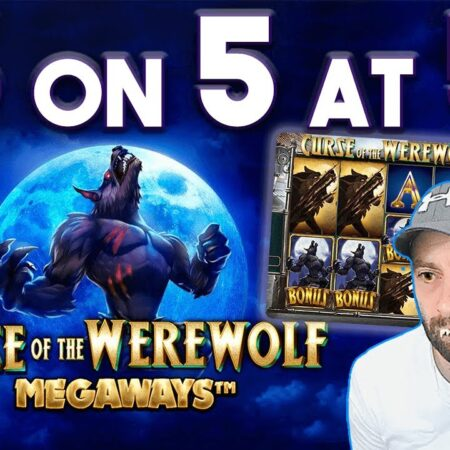 Online Slots: Curse Of The WereWolf Megaways: 5 on 5 at 5!