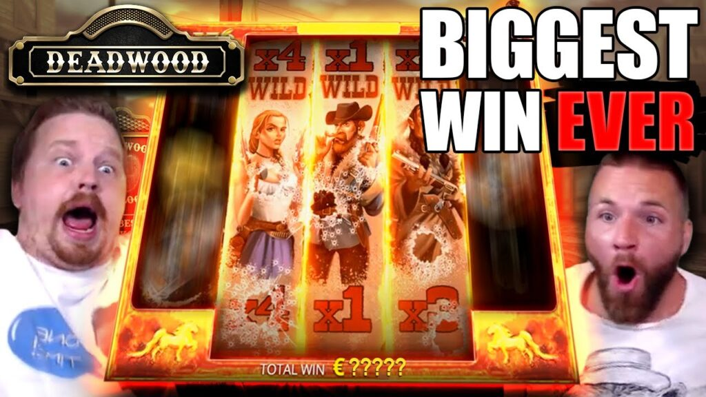 SUPER MEGA WIN - Deadwood (My BIGGEST Slot Win EVER)